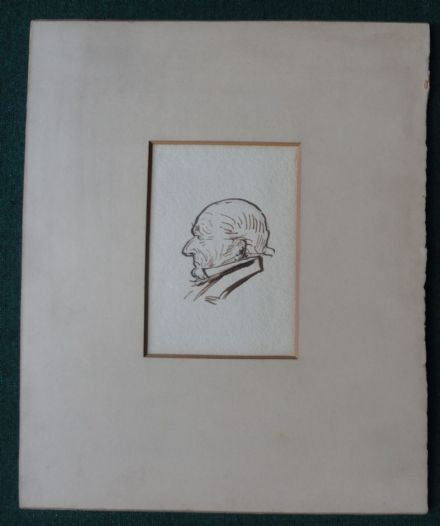 Sir Frank Lockwood Pen Ink Drawing Victorian Liberal Prime Minister WE Gladstone